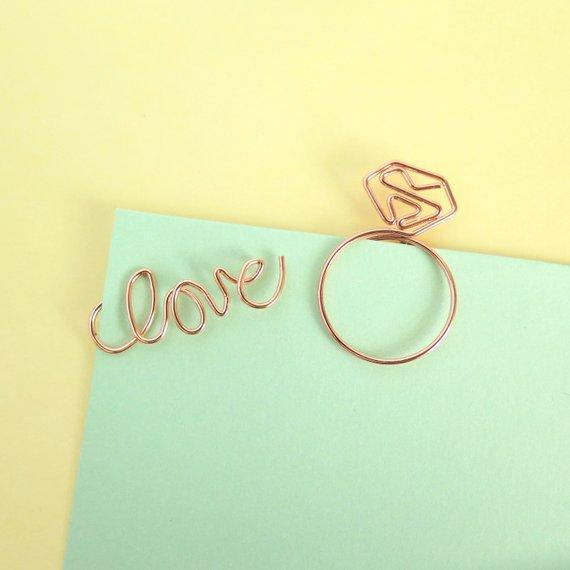 Rose Gold Planner Paper Clips Stationery - Clips alleymuse