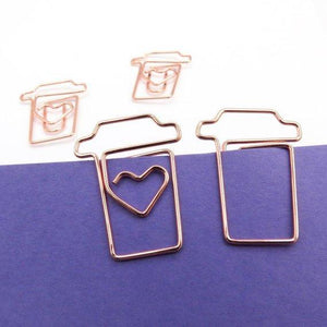 Rose Gold Planner Paper Clips