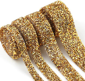 Rhinestone Bling Roll, Gold Stationery - Rhinestone Roll alleymuse