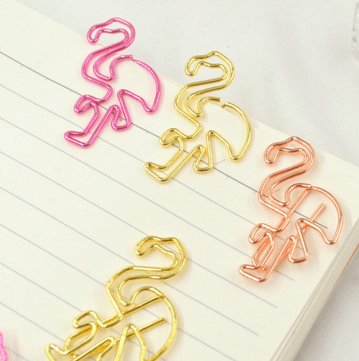 Flamingo Planner Clips Stationery - Clips alleymuse