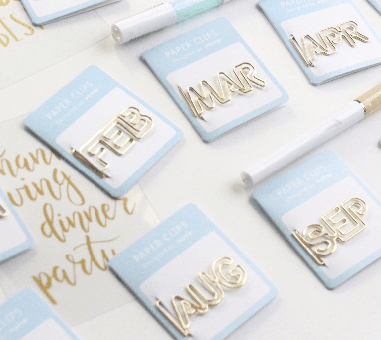 Monthly Planner Clips Set Stationery - Clips Domikee