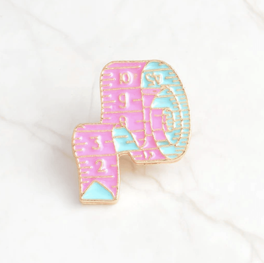 Crafty Enamel Pins Accessories - Enamel Pins alleymuse Measuring Tape
