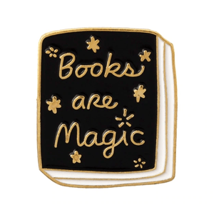 Books Are Magic Enamel Pin Accessories - Enamel Pins alleymuse