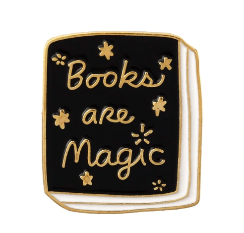 Books Are Magic Enamel Pin