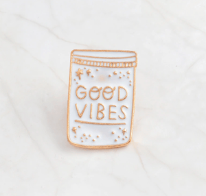 Good Vibes Enamel Pin Accessories - Enamel Pins alleymuse