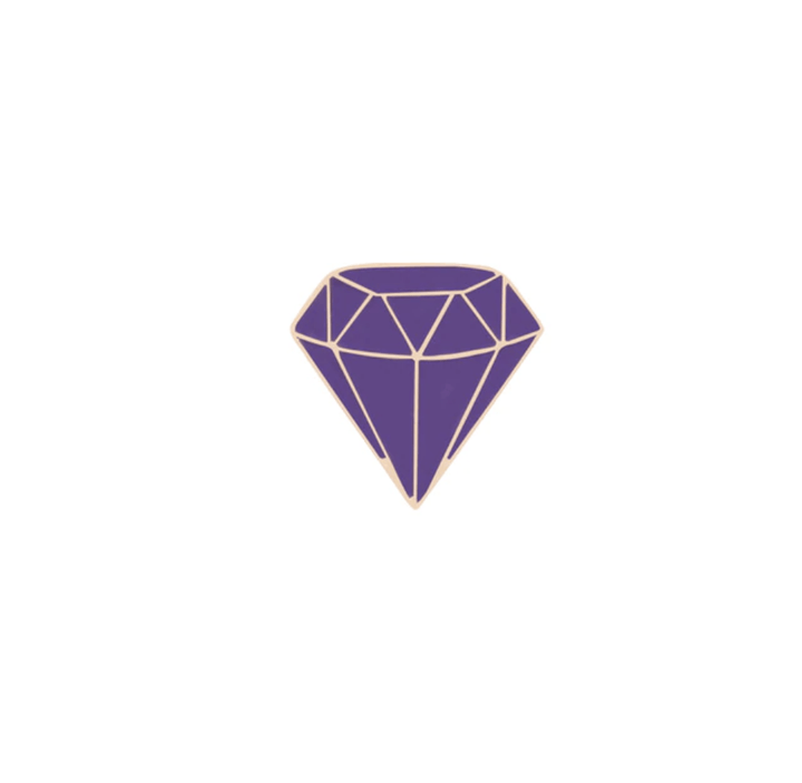 Purple Diamond Pin Accessories - Enamel Pins Cindy Jewelry