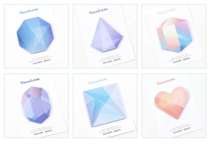 Sticky Memo Set - Geometric Diamond Stationery - Memos AliExpress - VALIOSOPA