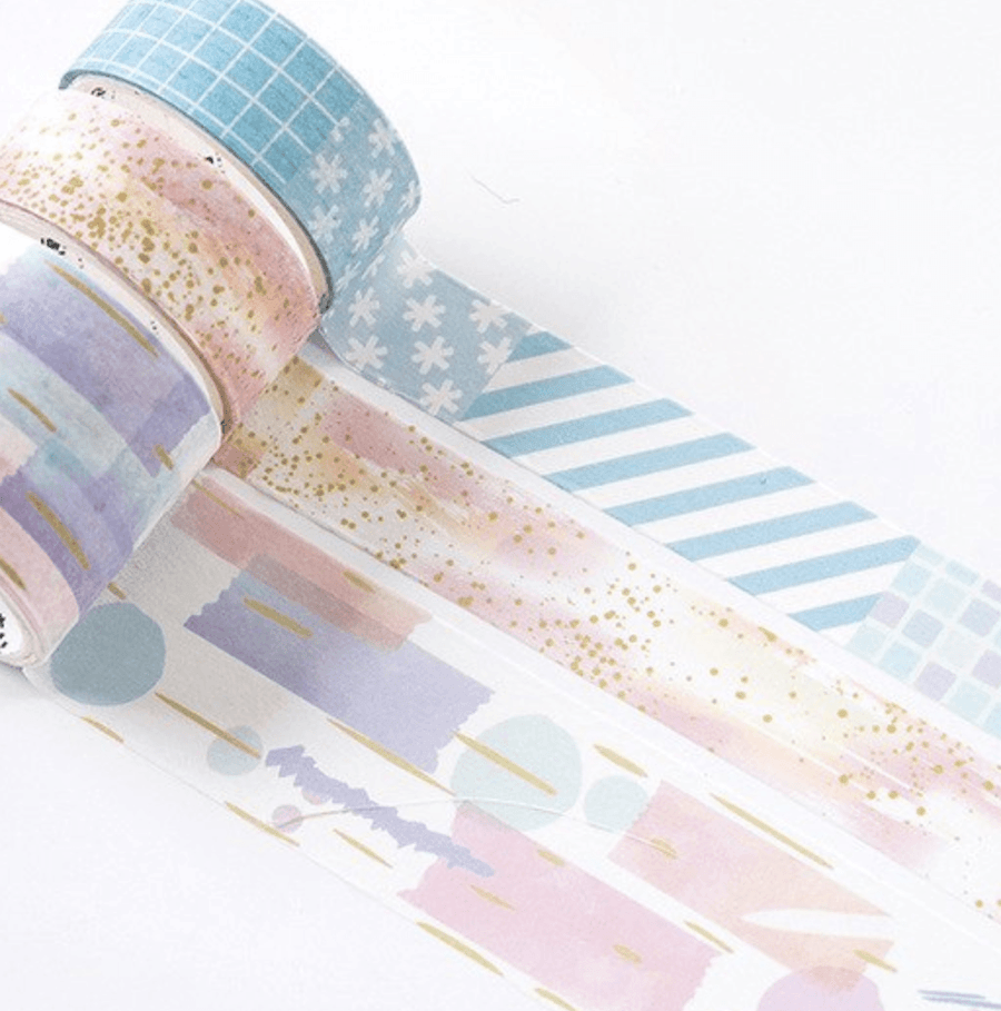 Pastel Quilt Washi Tape Set Stationery - Washi alleymuse