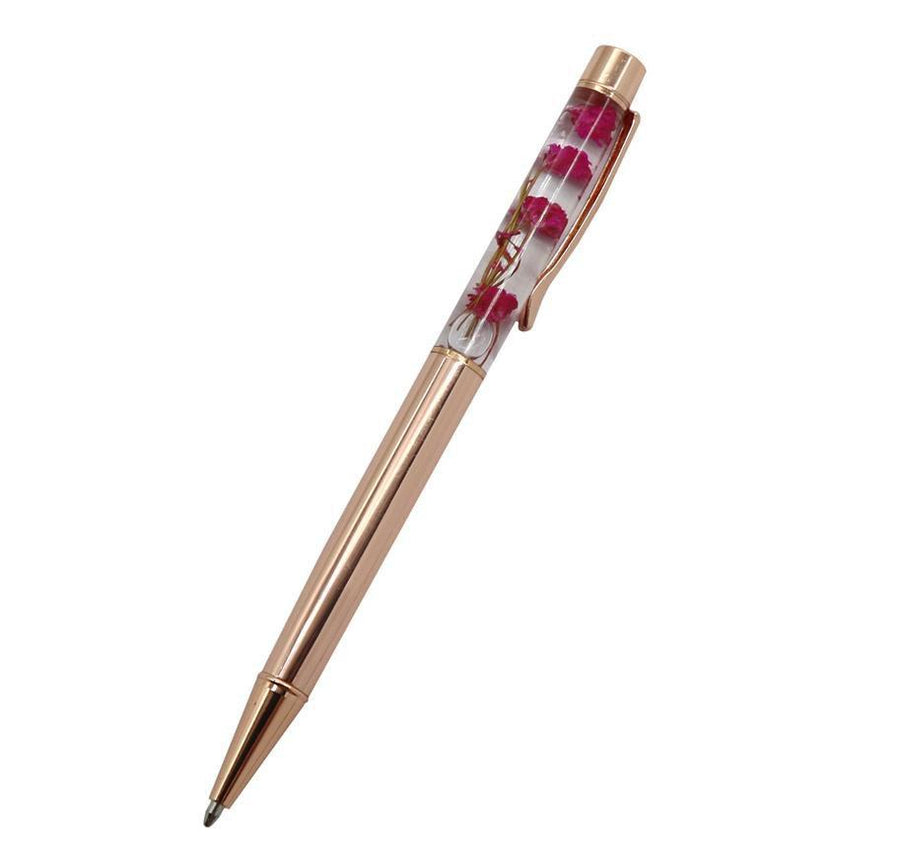Glitterfall Pen - Floral Stationery - Pens Tomohiro Stationery Shop Store