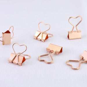 Heart Binder Clips Stationery - Clips alleymuse