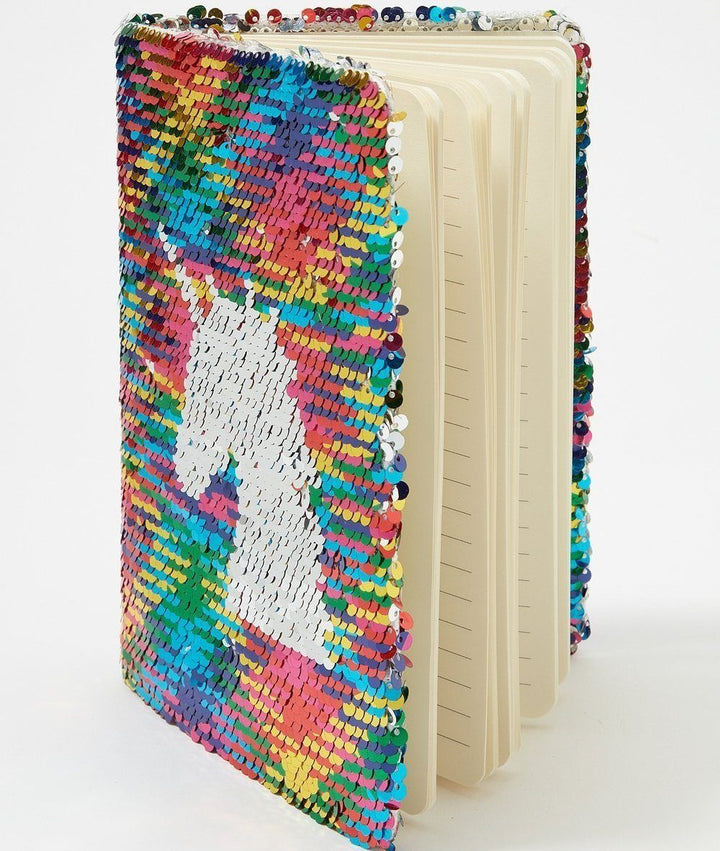Reversible Sequin Notebook - Unicorn