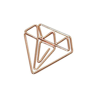 Bundle Diamond Paper Clips Tomohiro Stationery Shop Store Diamond Rose Gold