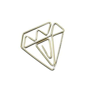 Bundle Diamond Paper Clips Tomohiro Stationery Shop Store Diamond Gold