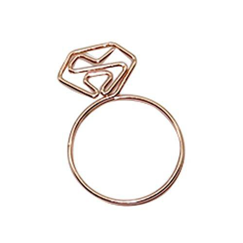 Bundle Diamond Paper Clips Tomohiro Stationery Shop Store Ring