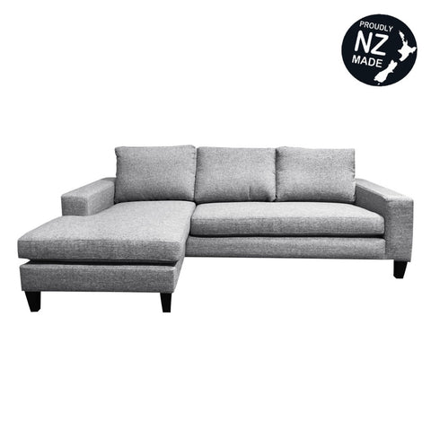 textured set with microfiber upholstered home sectional taupe chaise elegance collection reversible emilio pc lounge sofa