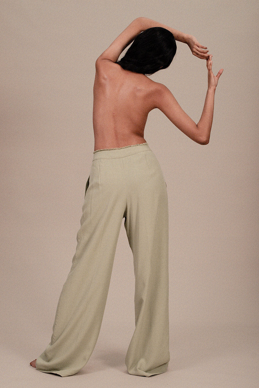 TENCEL WIDE-LEG TROUSERS