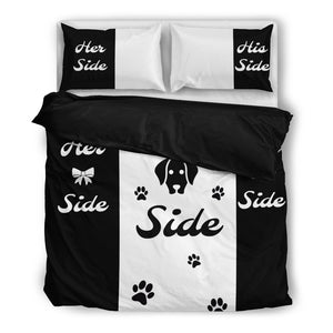 Her side His Side Dog Side Bedding Set