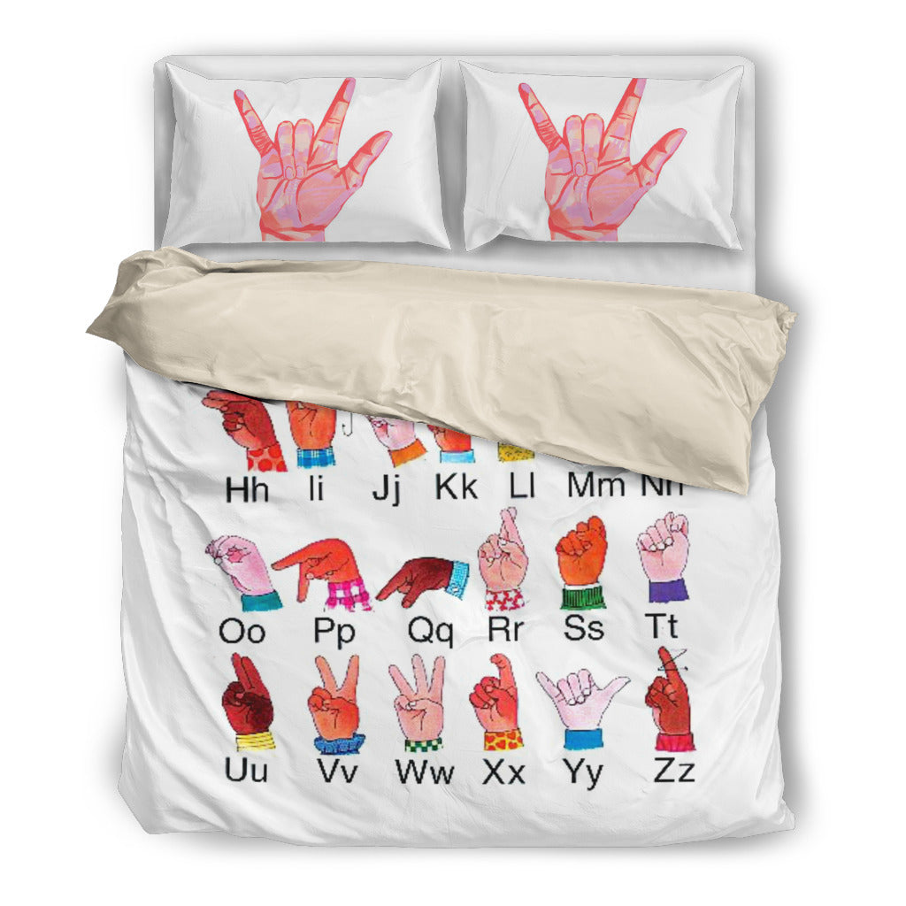 ASL Alphabet Bedding Set