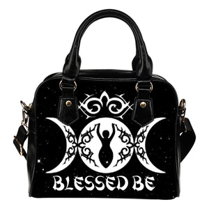 Triple moon goddess shoulder bag