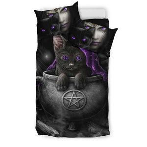 Cat Wicca bedding set