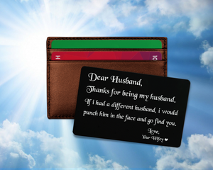 Engraved Love Note For My Husband