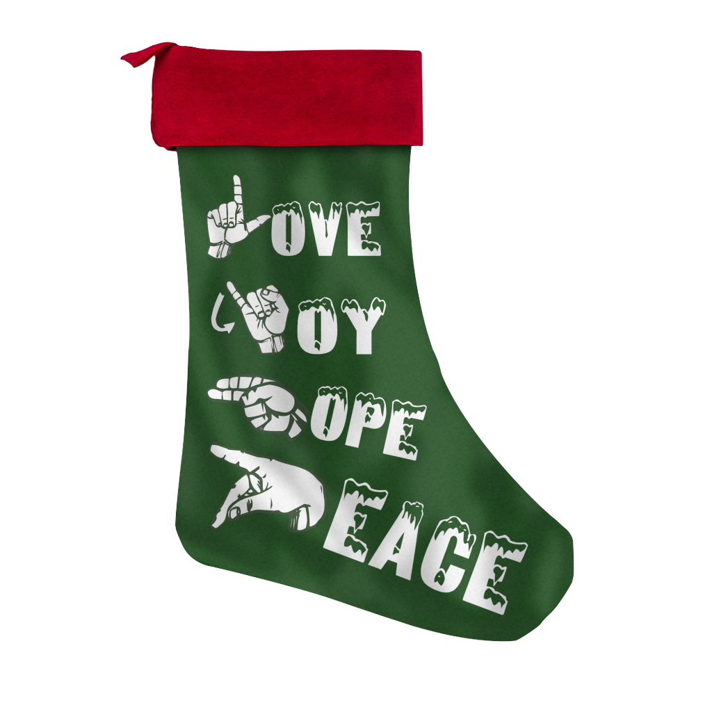 asl christmas stocking - Asl Christmas