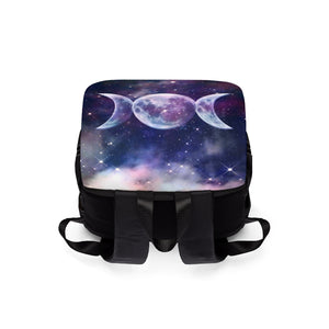 Triple moon wicca Shoulder Backpack