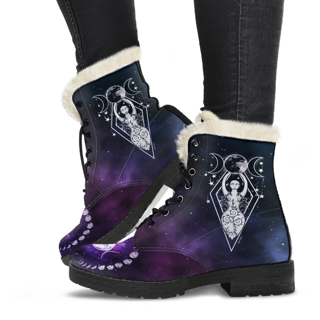 Goddess moon Wicca Boots