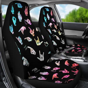ASL Alphabet Car Seat Cover