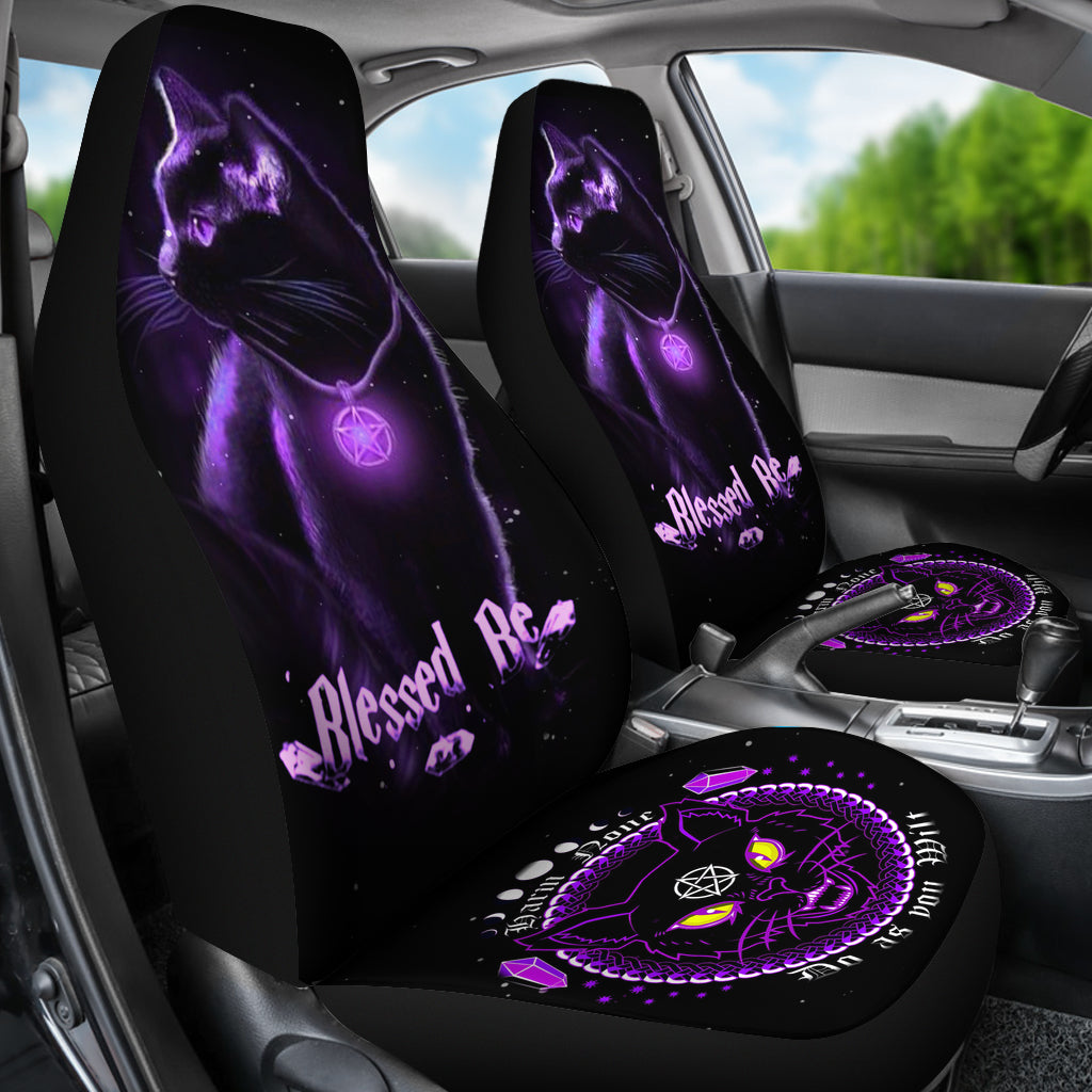 Blessed Be Cat Car Seat Covers