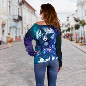 Blessed Be Women's Off Shoulder Sweater