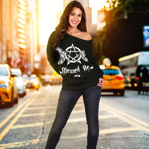 Wicca Women's Off Shoulder Sweater