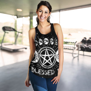 Wicca Blessed Be Racerback Tank