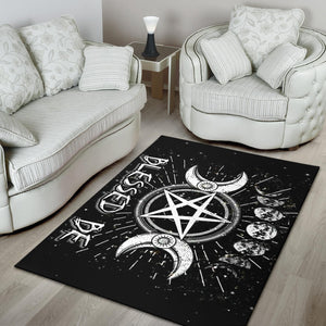 Blessed be wicca rug