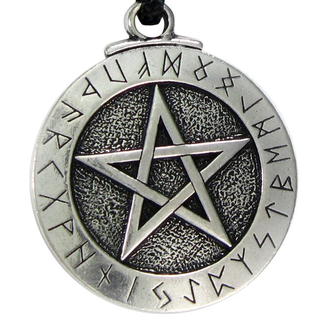 1PCS Norse Viking Pendant Necklace Pentacle Pendant Pentagram Jewelry Wiccan Necklace