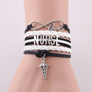 9 styles NEW Hot Best gift Infinity Love NURSE bracelets