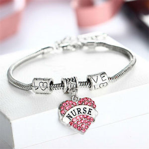 New silver plated charm nurse bracelet