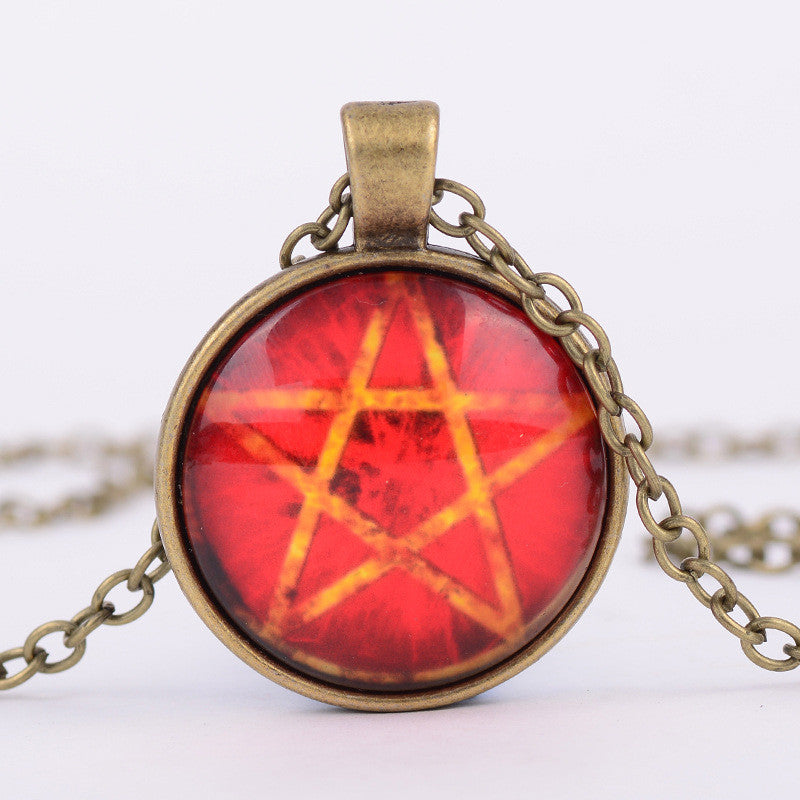 New arrival pentacle wicca pendant necklace wiccan jewelry mofotee new arrival pentacle wicca pendant necklace wiccan jewelry aloadofball Gallery