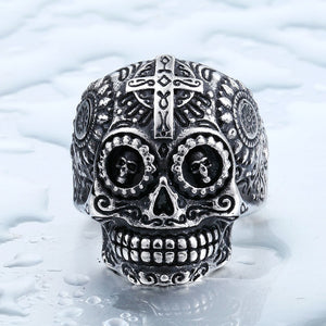 BEIER Cool Men's Gothic Carving Ring