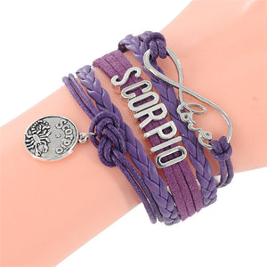 12 zodiac signs - Infinity Love Sign Bracelet