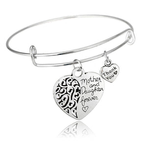 Love Between Mother And Daughter Heart Bracelet Mother's Day Gifts