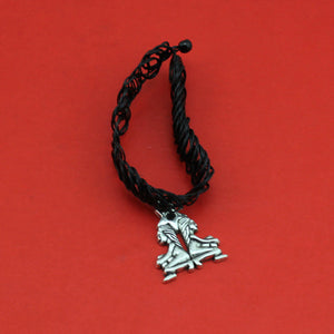 Gothic Punk Grunge Henna Elastic With 12 Zodiac Signs Pendant Necklace
