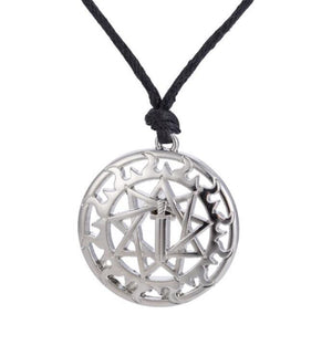 Slavic Talisman Sword In Circle Charm Supernatural Pentagram Sun And Star Necklace