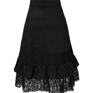2017 Hot Women Steampunk Clothing Skirt Punk Gothic Retro Lace Skirt