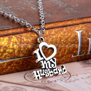 I Love My Wife/Husband Necklace