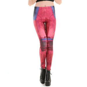Fitness sexy 3d print retro gothic robot armour women leggings