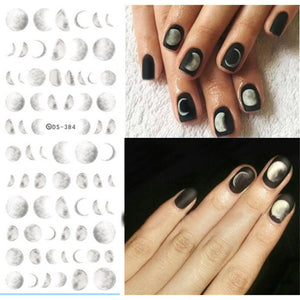 1 Sheet Moonlight Water Decal 12.8*5.4cm Nail Art Sickers