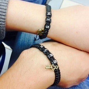 HIS and HERS Adjustable Couple Bracelets
