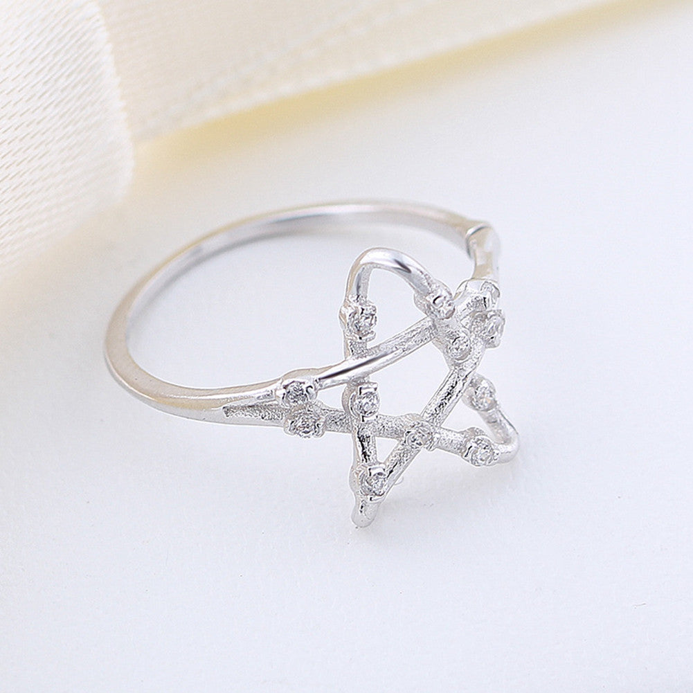 silver rings stackable cz wing midi pfs gold g plated set jewely bling jewelry angel star