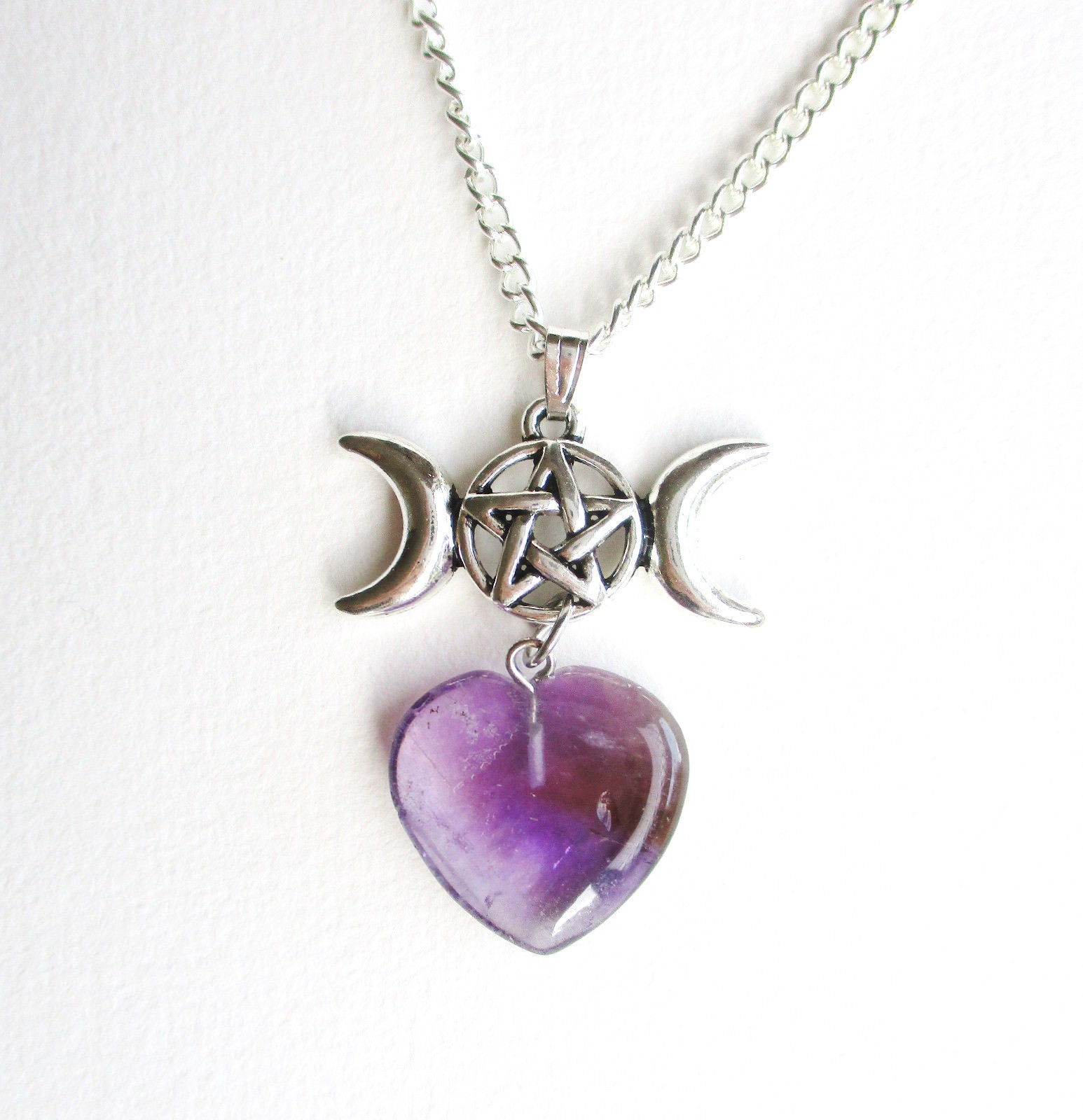 share heart detailed necklace twisted shop gothic products dixi triple moon